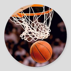 Basketball Scoring Round Car Magnet