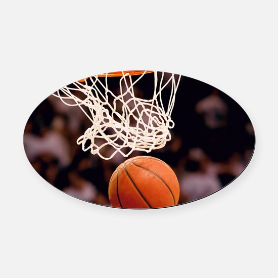 Basketball Scoring Oval Car Magnet