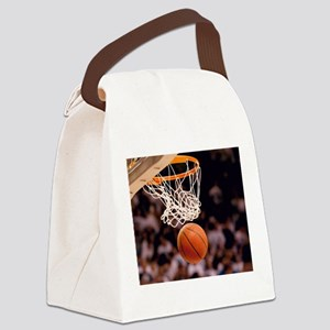 Basketball Scoring Canvas Lunch Bag
