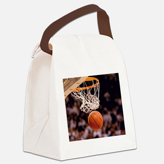 Basketball Scoring Canvas Lunch Bag