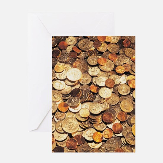U.S. Coins Greeting Cards