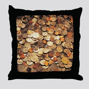 U.S. Coins Throw Pillow