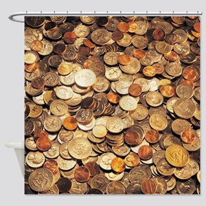 U.S. Coins Shower Curtain