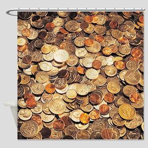 U.S. Coins Shower Curtain