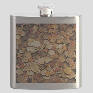 U.S. Coins Flask