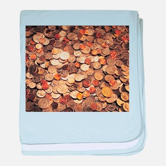 U.S. Coins baby blanket
