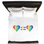 Love Equals Love King Duvet