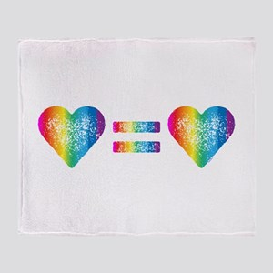 Love Equals Love Throw Blanket