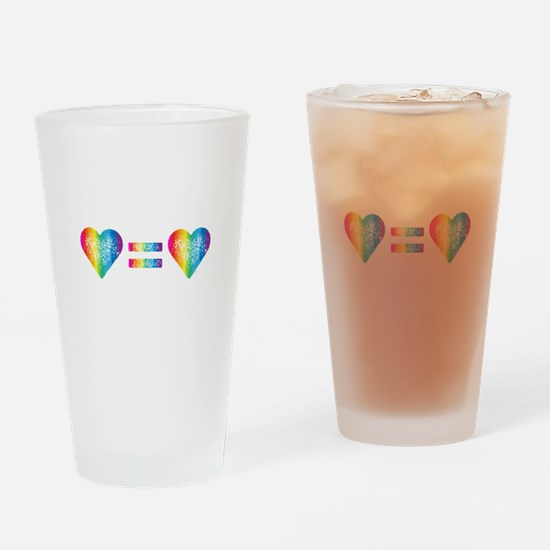 Love Equals Love Drinking Glass