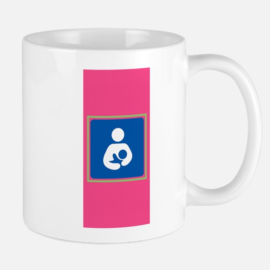Breastfeeding Symbol on Pink Mugs