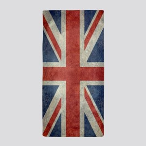 Vintage Union Jack flag Beach Towel