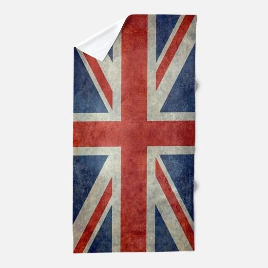 Vintage Union Jack flag Beach Towel