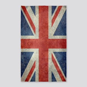 Vintage Union Jack flag Area Rug