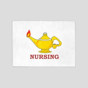 Nursing Lamp 5'x7'Area Rug