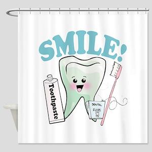 Smile Dentist Dental Hygiene Shower Curtain