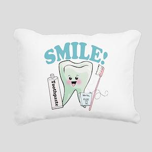 Smile Dentist Dental Hyg Rectangular Canvas Pillow