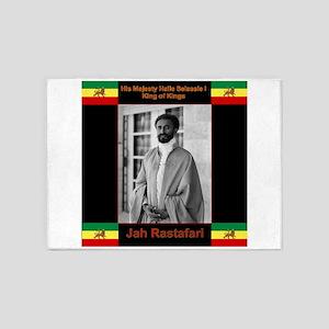 Haile Selassie I Jah Rastafari 5'x7'Area Rug