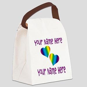 Rainbow Love Canvas Lunch Bag