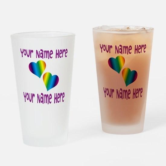 Rainbow Love Drinking Glass