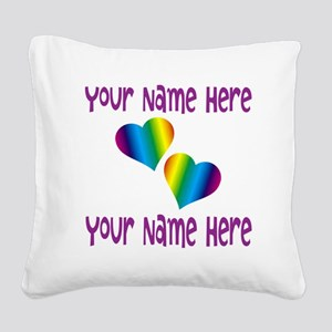 Rainbow Love Square Canvas Pillow