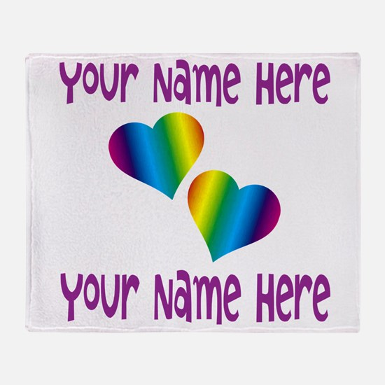 Rainbow Love Throw Blanket