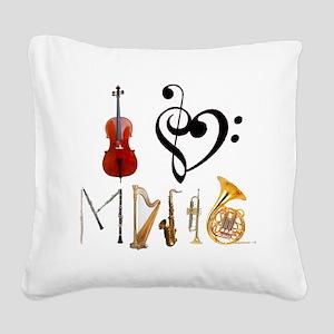 I3Musicblack Square Canvas Pillow