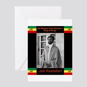 Rasta baby selassie jah rastafari reggae ma greeting cards cafepress haile selassie i jah rastafari greeting cards m4hsunfo