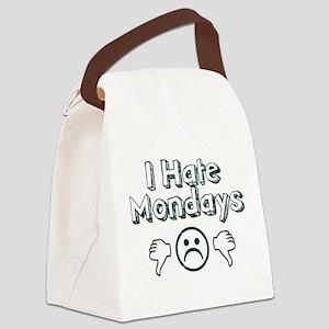 I Hate Mondays Canvas Lunch Bag