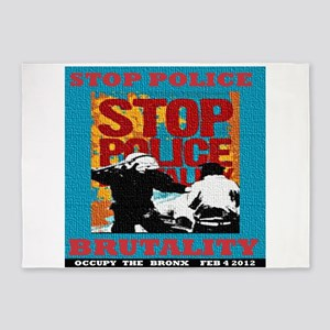 Stop_Police_Brutality_Occupy_the_Br 5'x7'Area Rug