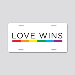 Love Wins Aluminum License Plate