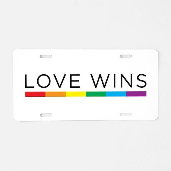 Love Wins Aluminum License Plate