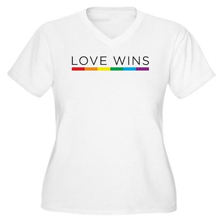 Love Wins Plus Size T-Shirt