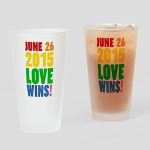June 26 2016 Love Wins Drinking Glass