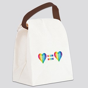 Love Equals Love Canvas Lunch Bag