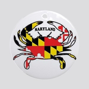Maryland Crab Ornament (round)