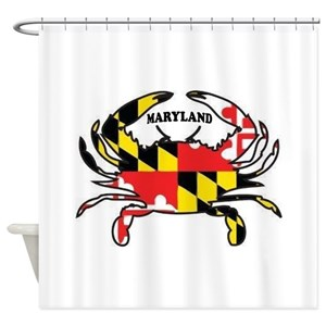 Maryland Blue Crabs Shower Curtains