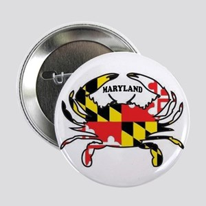"""Maryland Crab 2.25"""" Button"""