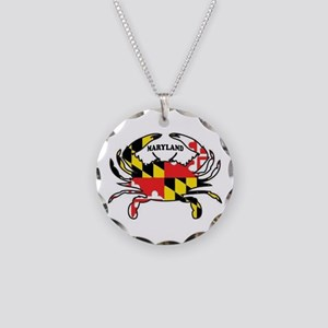 Maryland Crab Necklace Circle Charm