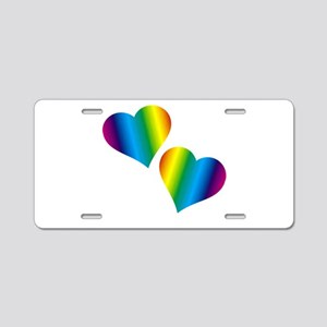 Rainbow Love Aluminum License Plate