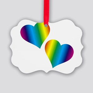 Rainbow Love Ornament