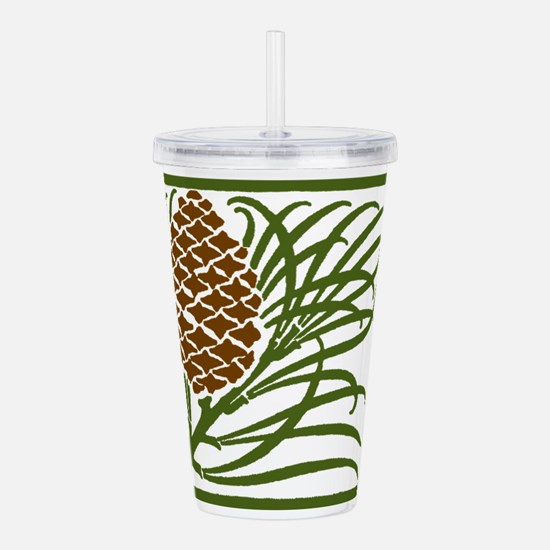 Giant Pine Cone Color Acrylic Double-wall Tumbler