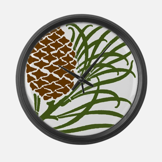 Giant Pine Cone Color Large Wall Clock