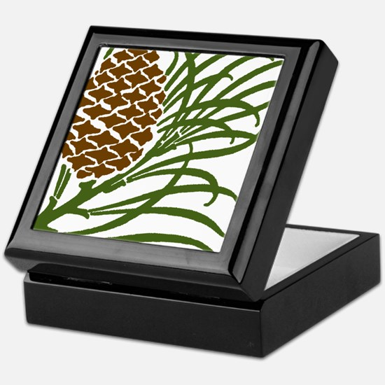 Giant Pine Cone Color Keepsake Box
