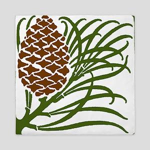 Giant Pine Cone Color Queen Duvet