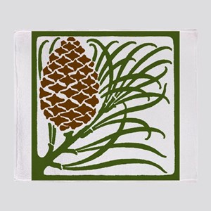 Giant Pine Cone Color Throw Blanket