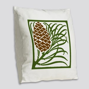 Giant Pine Cone Color Burlap Throw Pillow