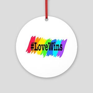 Love Wins Rainbow Pride Ornament (Round)