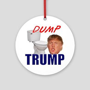 Dump Trump Round Ornament