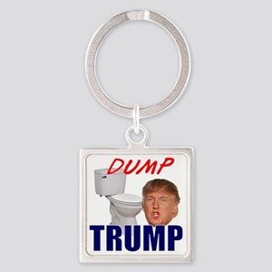 Dump Trump Square Keychain