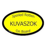 Spoiled Kuvaszok On Board Oval Sticker